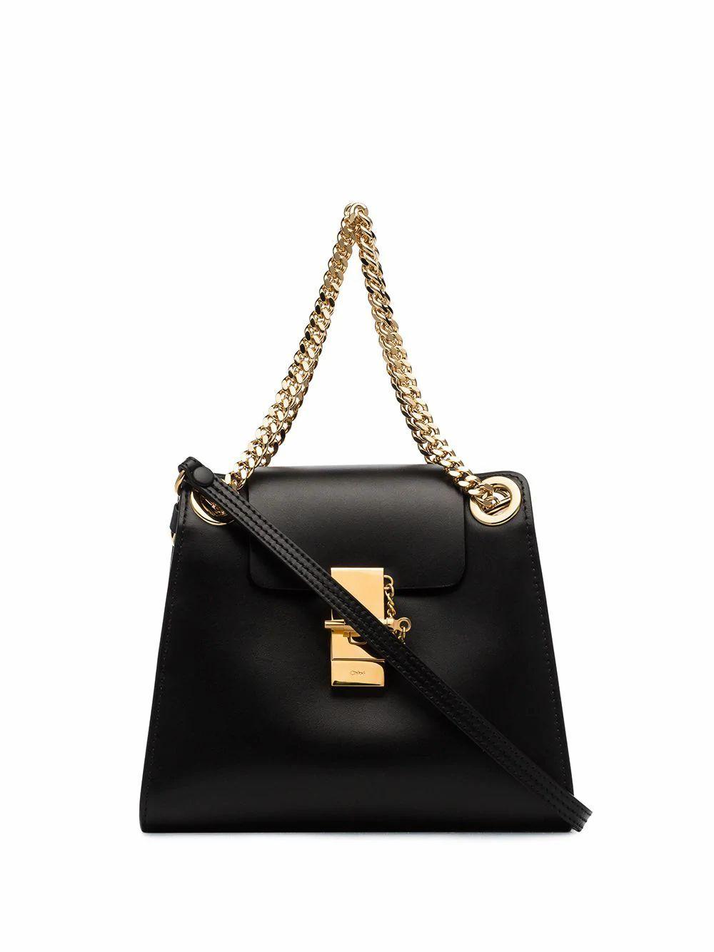 CHLOÉ WOMEN'S CHC19AS118A37001 BLACK LEATHER SHOULDER BAG