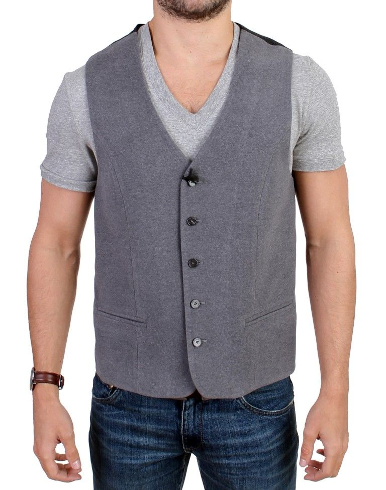 Costume National Gray cotton blend casual vest
