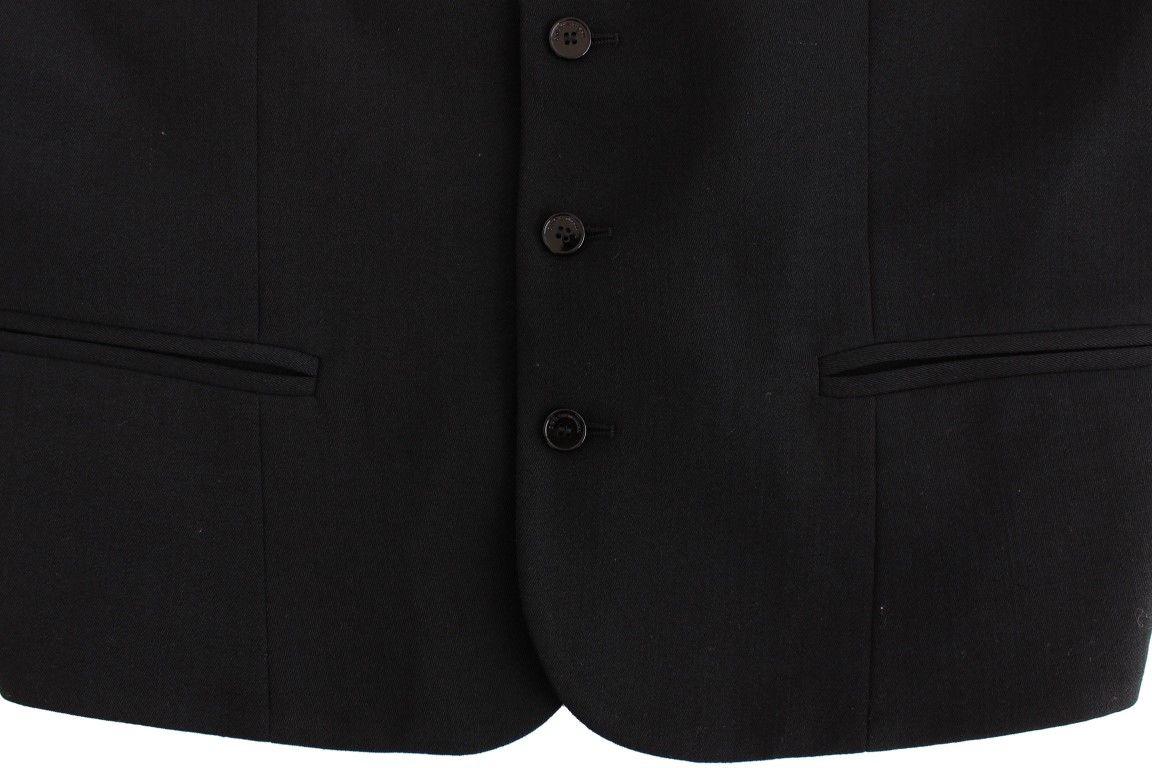 Costume National Black wool blend casual vest