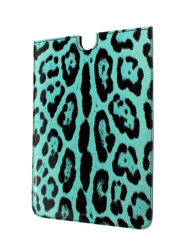 Dolce & Gabbana Leopard Leder iPAD Tablet eBook Cover Tasche