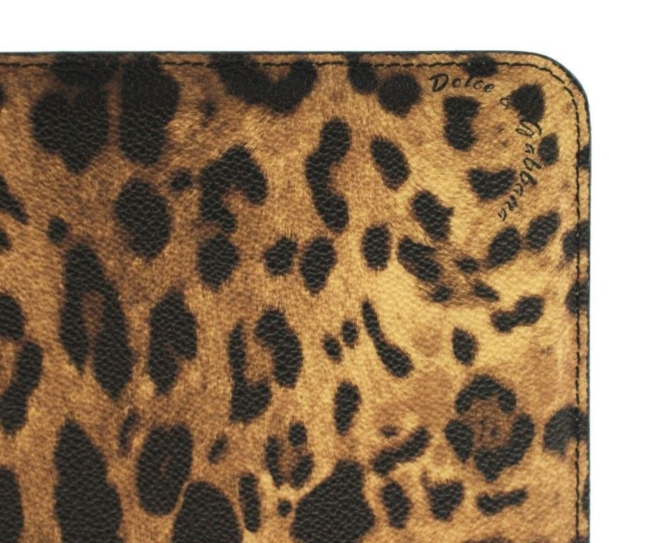 Dolce & Gabbana Leopard Leather iPAD Tablet eBook Cover Bag