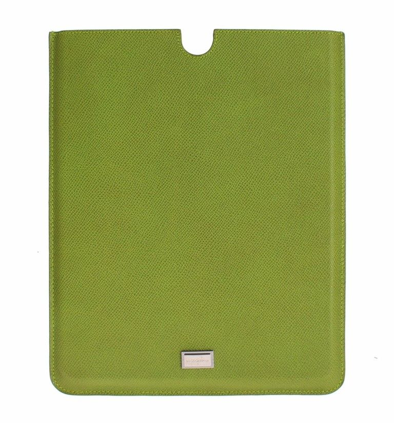 Dolce & Gabbana Green Leather iPAD Tablet eBook Cover Bag