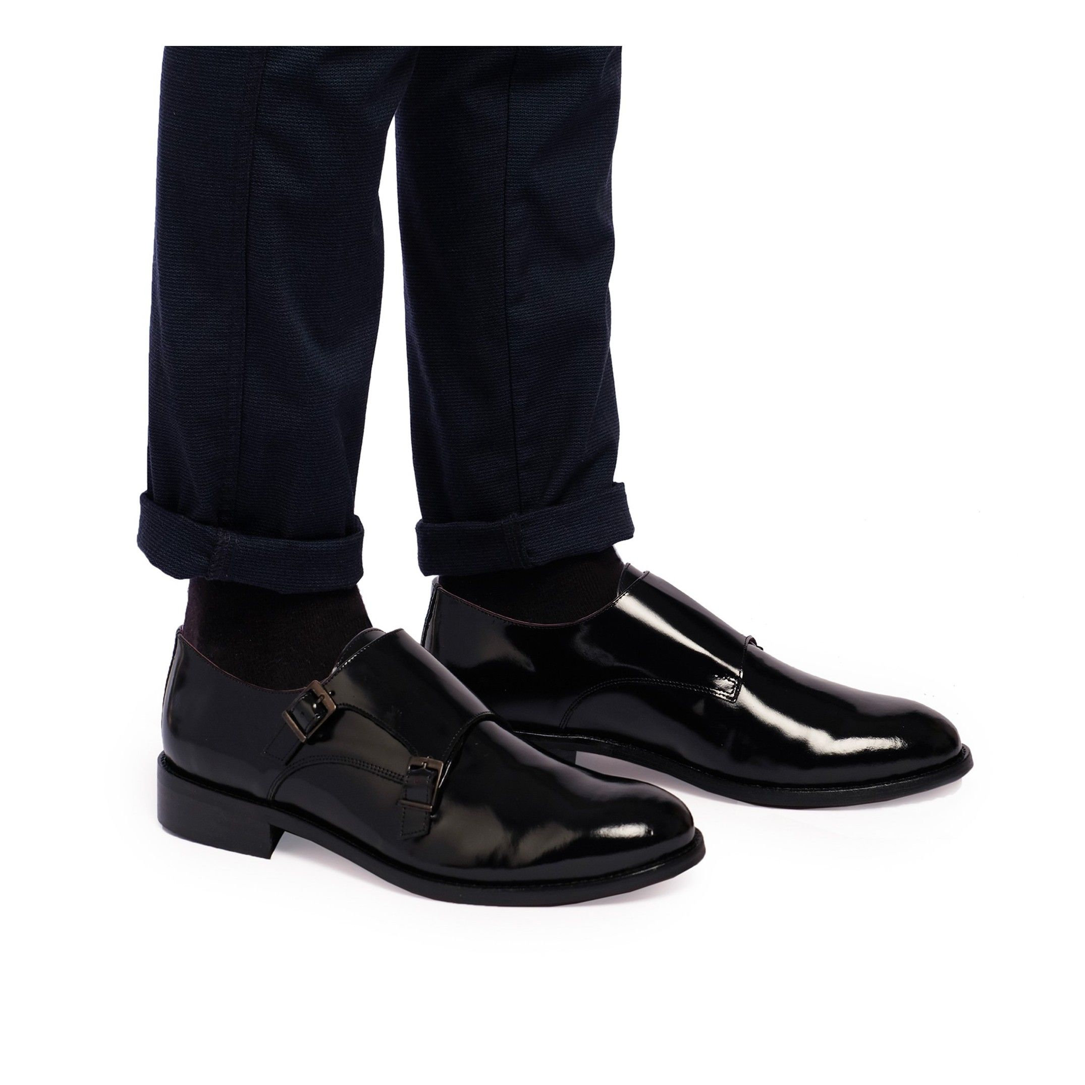 Castellanisimos Monk Men Leather Shoe Black