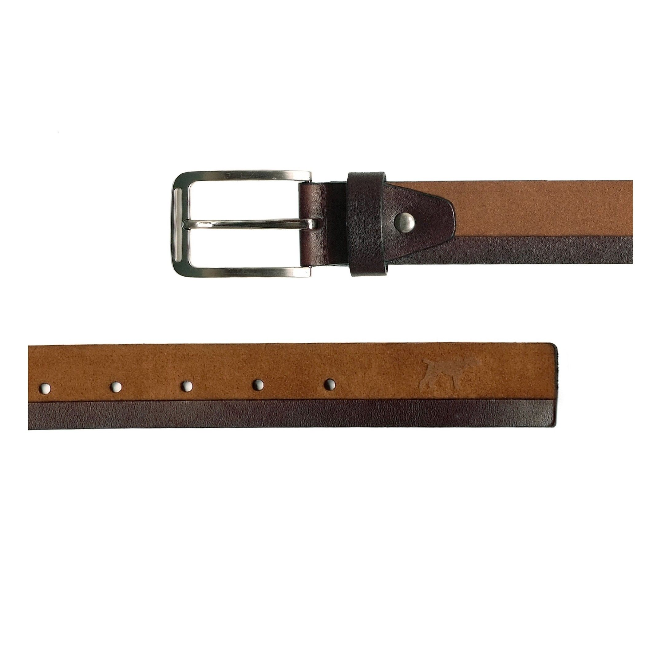 Men's Leather And Adjustable Belt in Brown