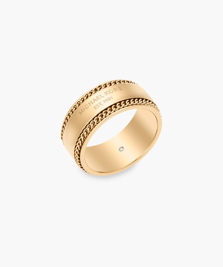 14ct gold-plated stainless steel ring
