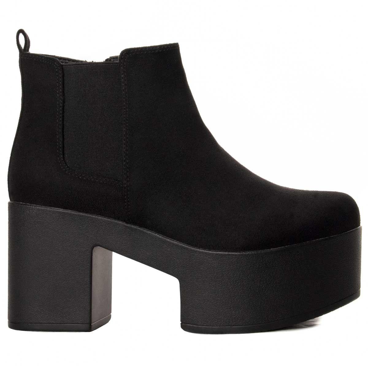 Montevita Platform Ankle Boot in Black