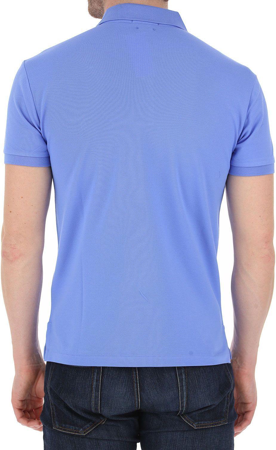 RALPH LAUREN MEN'S 710541705056 LIGHT BLUE COTTON POLO SHIRT