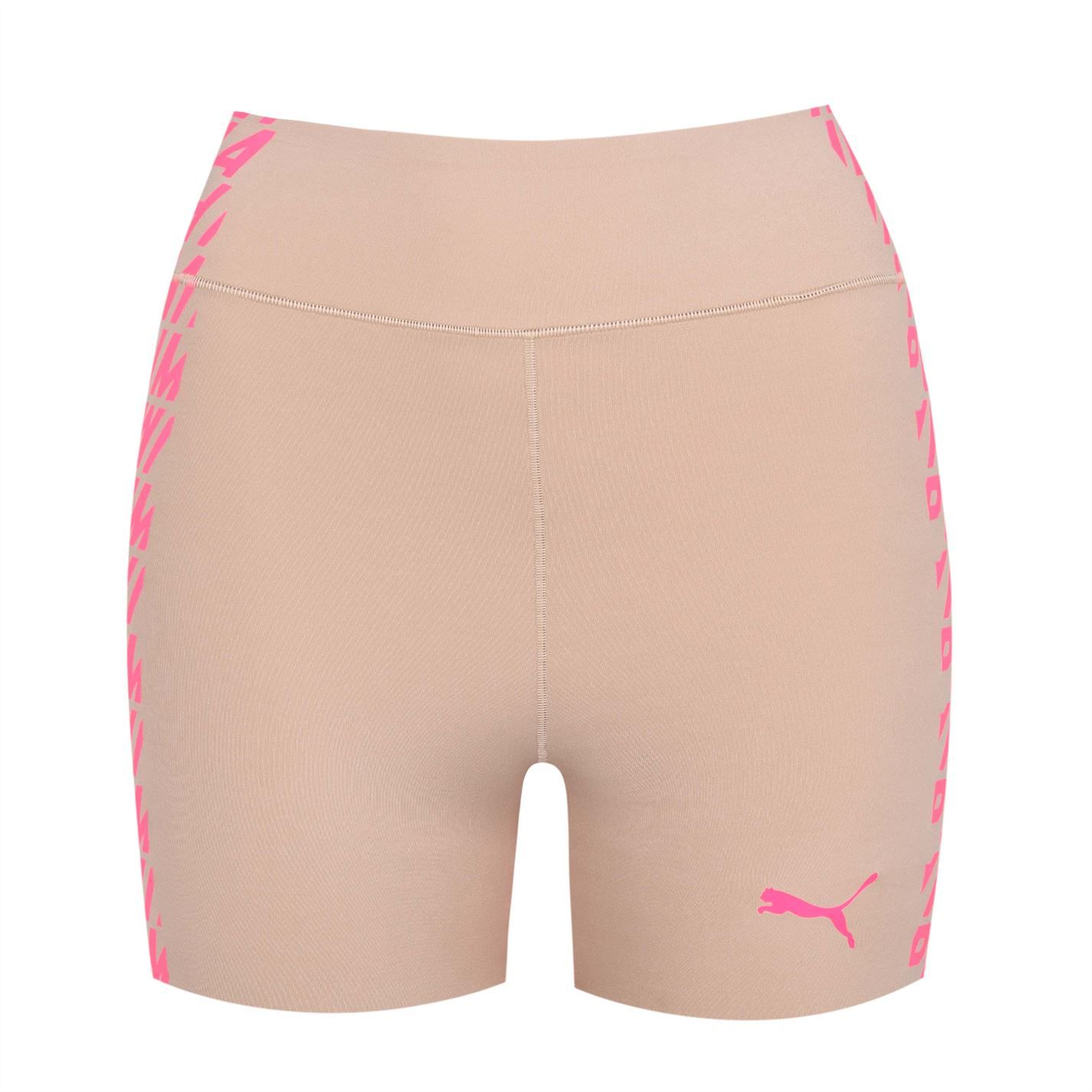 Puma Womens Shaping Long Boxers Shorts Bottoms Workout Fitnes Training Sport