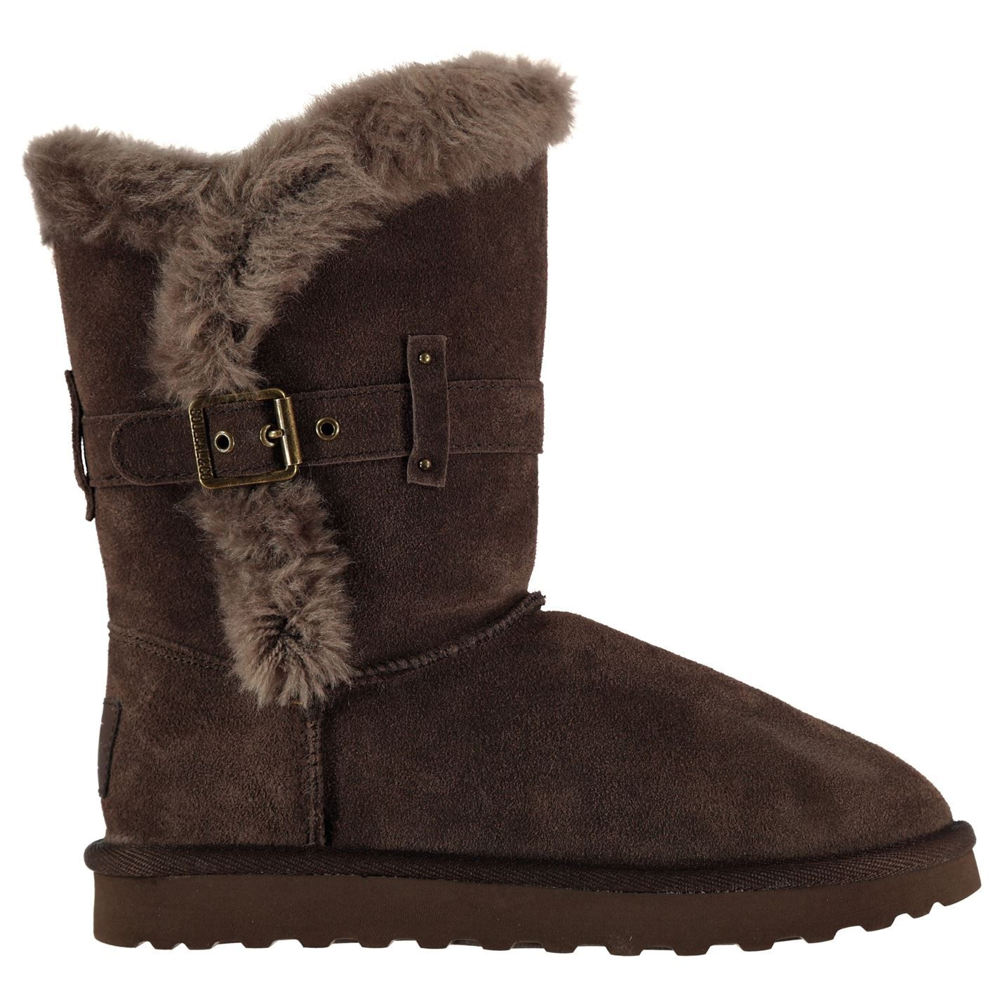 SoulCal Womens Ladies Bardi Buckle Strap Cosy Warm Snug Boots Winter Shoes