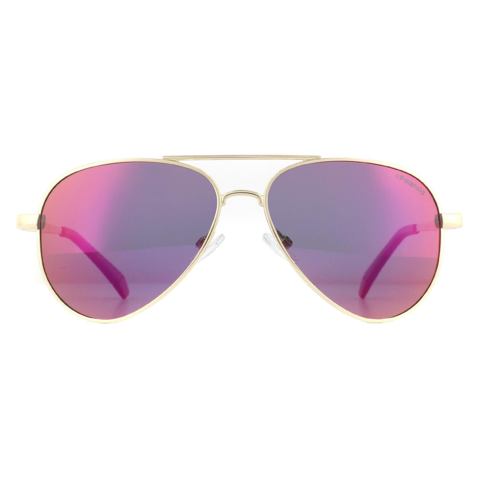 Polaroid Sunglasses 6012/N/NEW J5G Aviator LA Gold Brown Gradient Polarized