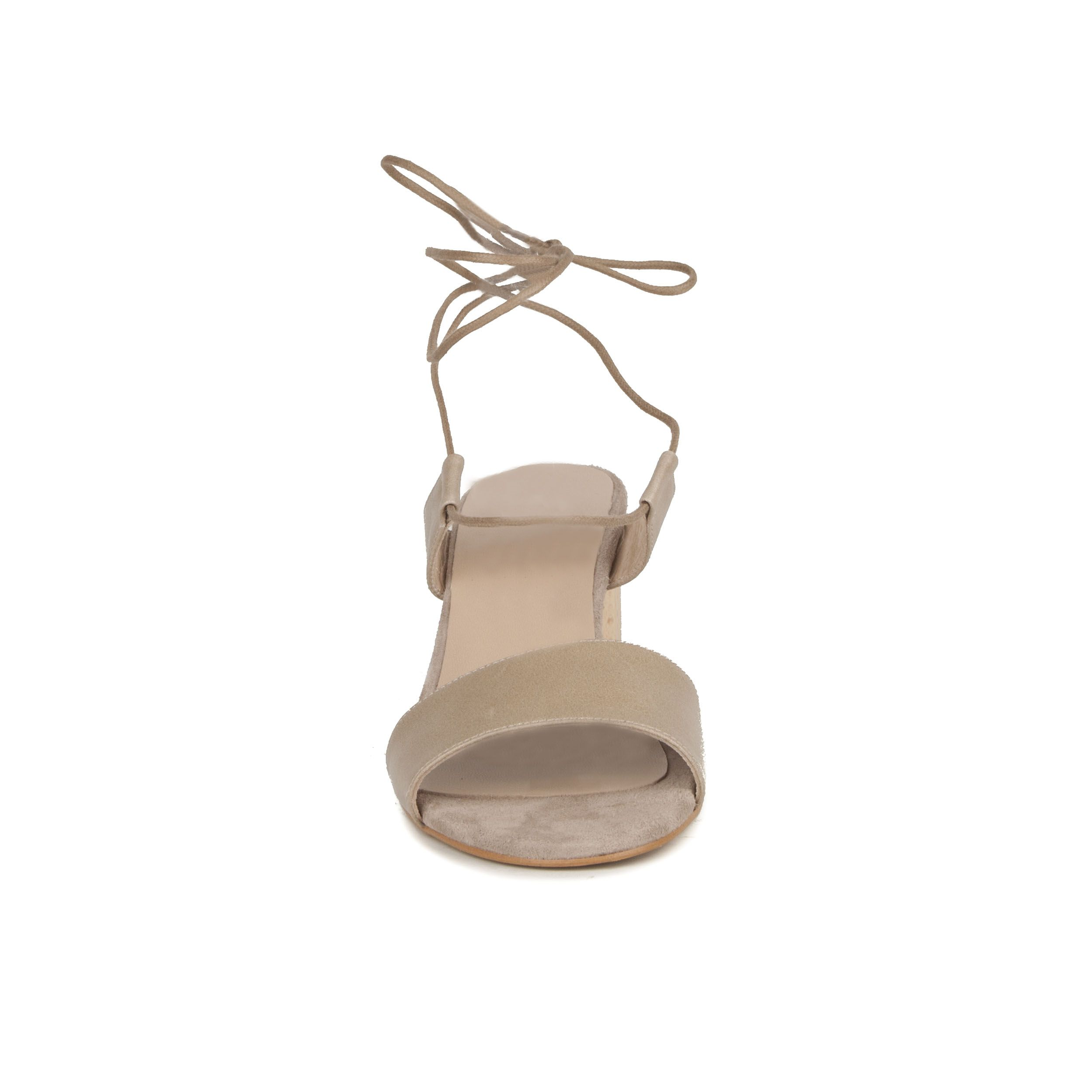 Montevita Block Heel Sandal in Taupe