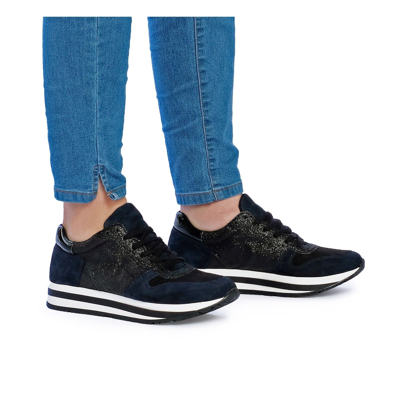 Eva Lopez Sport Shoes Women Sneaker Navy Color Laces Woman