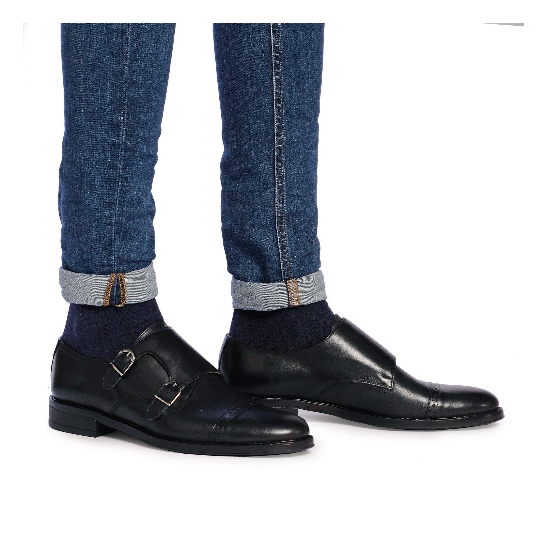 Monk Men's Leather Shoe Black