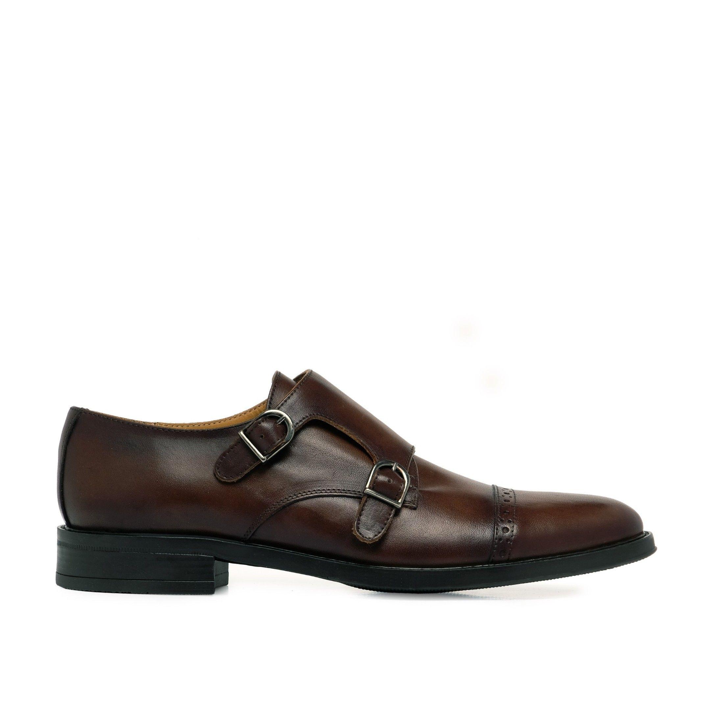 Castellanisimos Monk Men Leather Shoe Brown