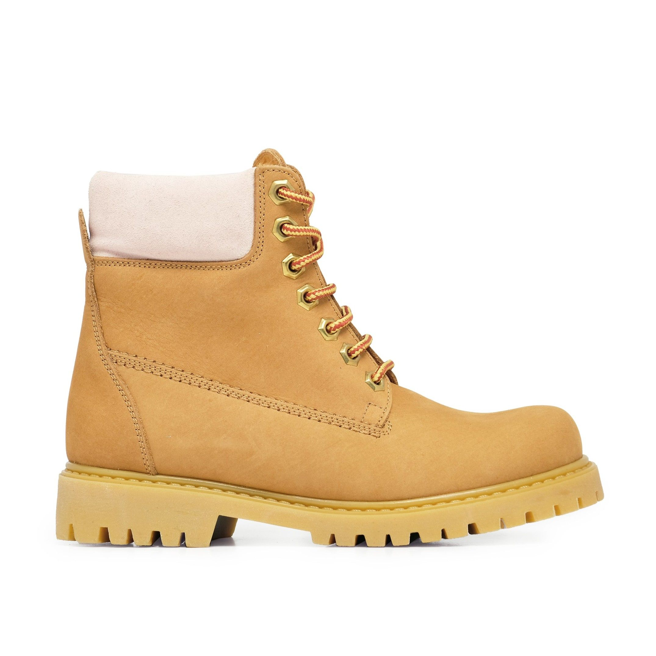 Maria Barcelo Leather Nude Men Boots Winter Shoes Laces