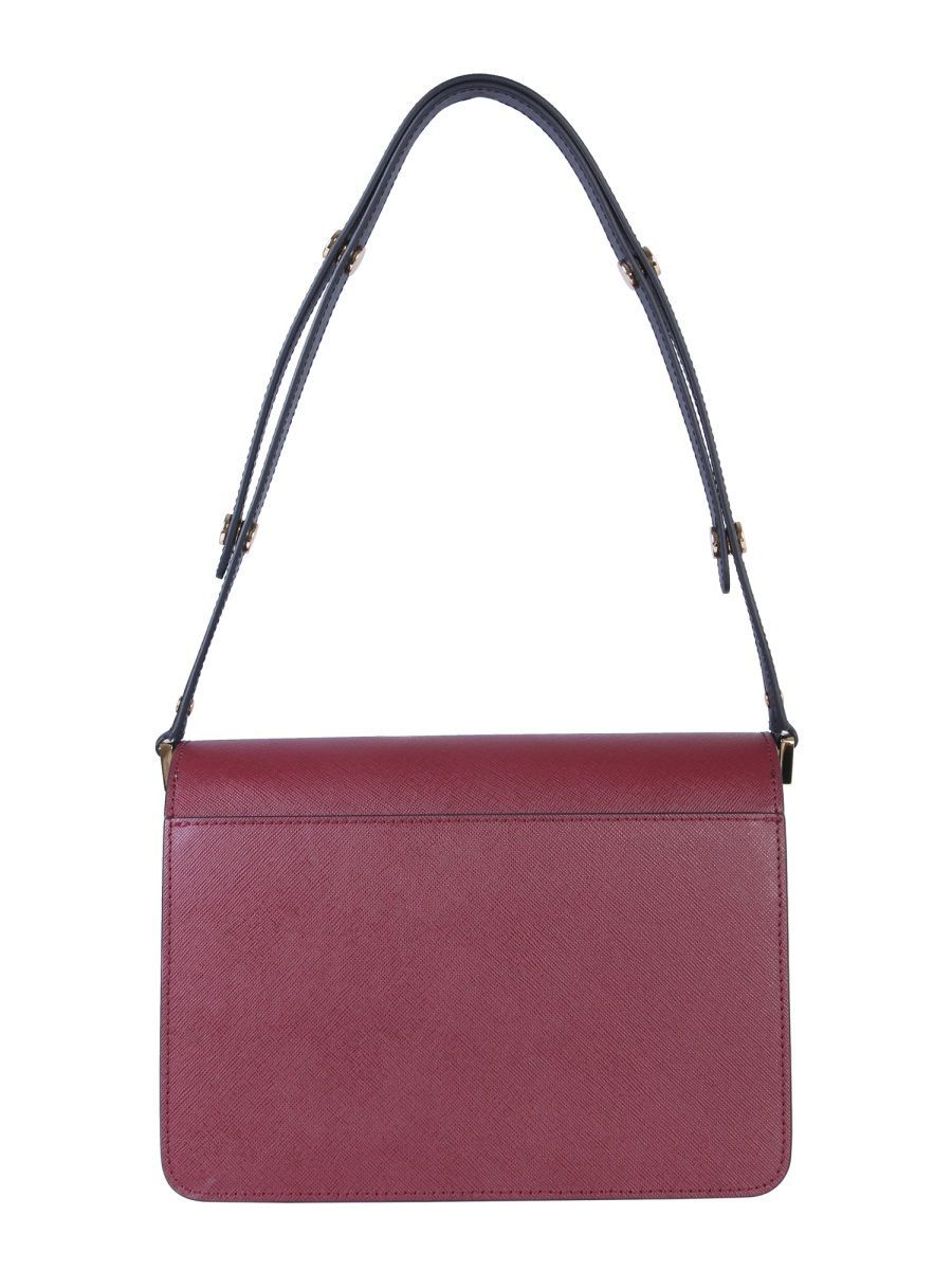 MARNI WOMEN'S SBMPN09NO5LV520Z112N BURGUNDY LEATHER SHOULDER BAG