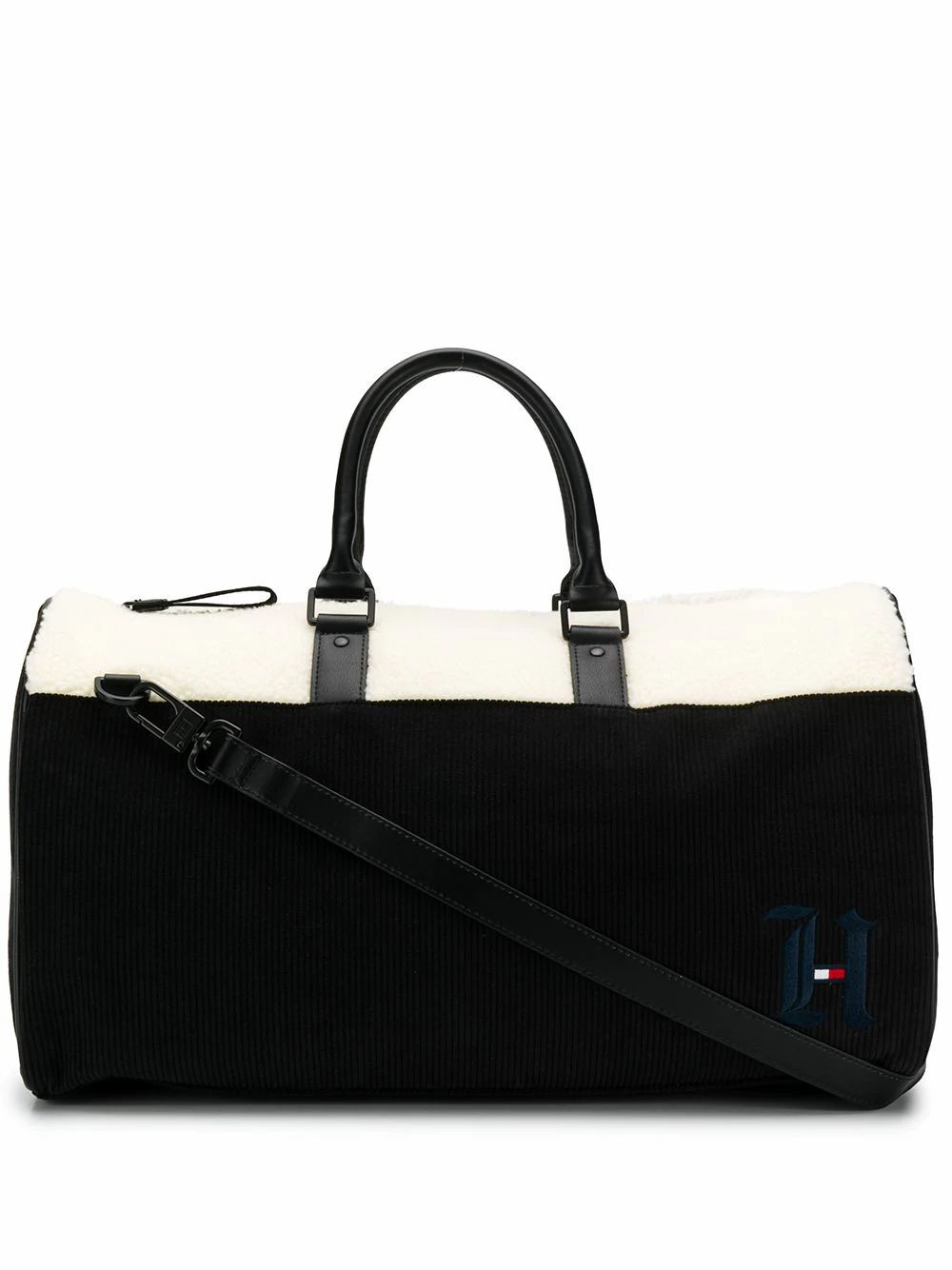 TOMMY HILFIGER MEN'S AM0AM05376BDS BLACK POLYESTER TRAVEL BAG