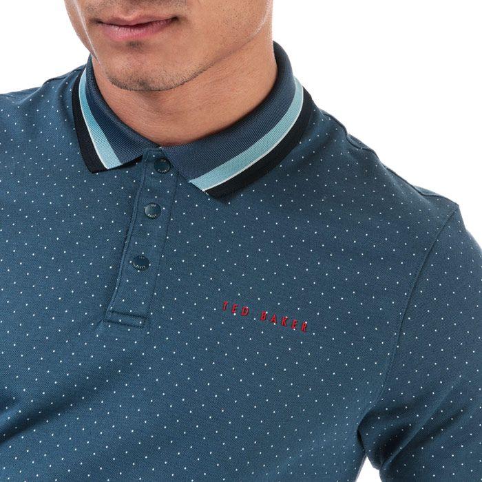 Men's Ted Baker Kabby Golf Polo Shirt in Dark Blue