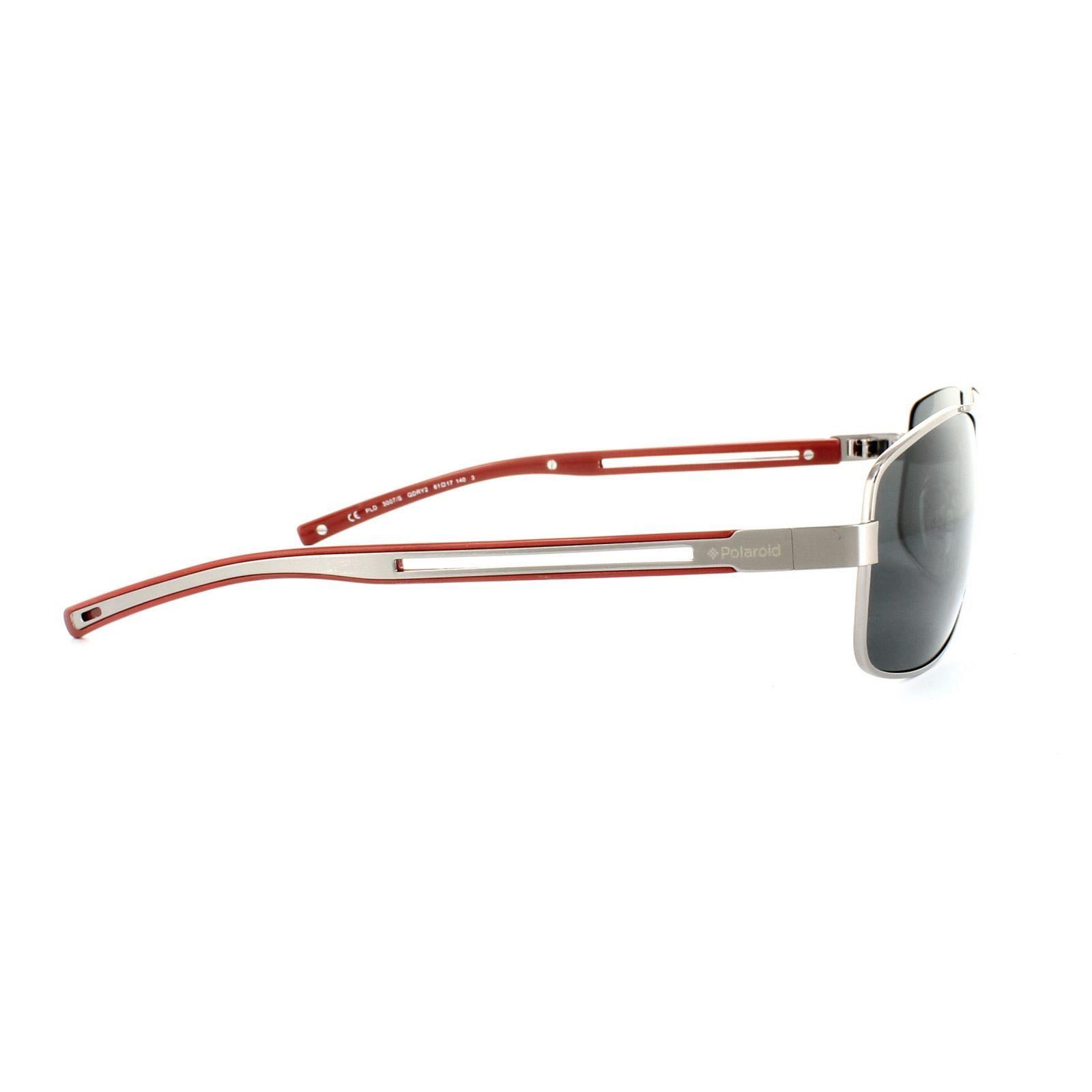 Polaroid Sunglasses PLD 3007/S QDR Y2 Ruthenium Red Grey Polarized