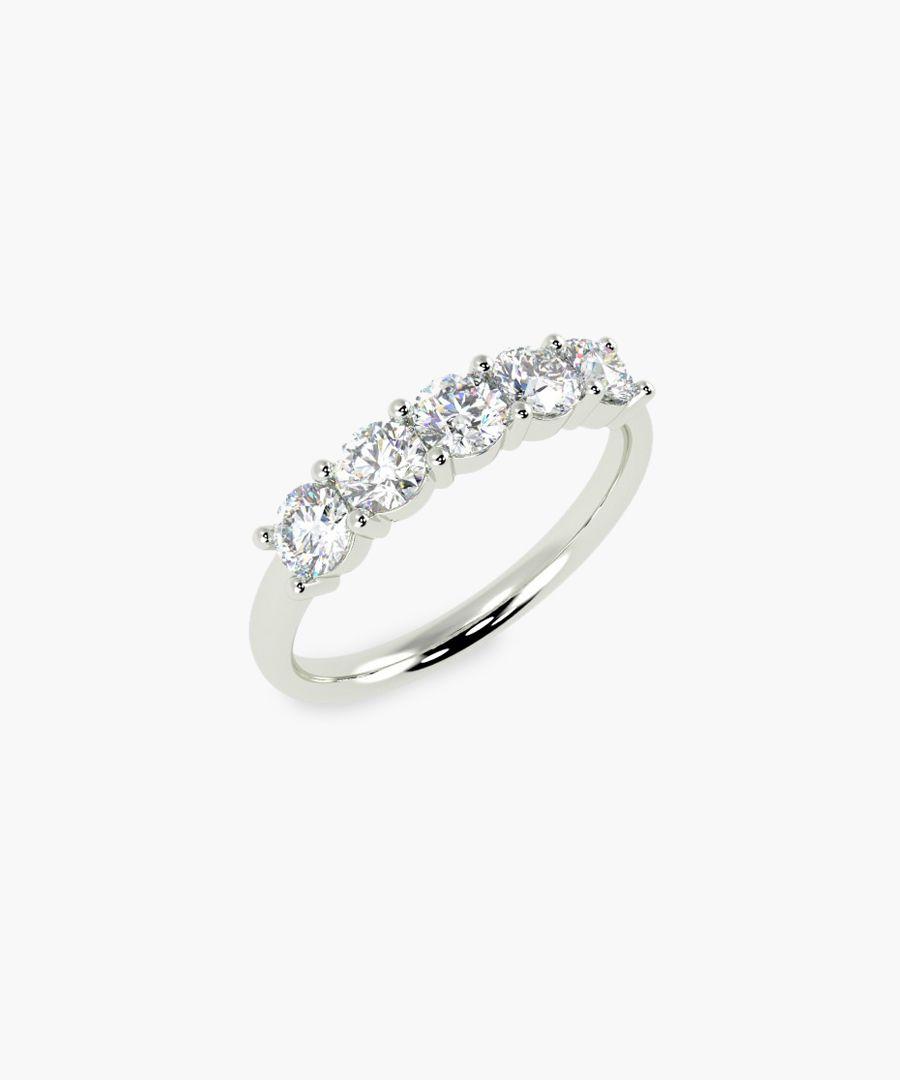 Platinum and 0.70ct diamond ring