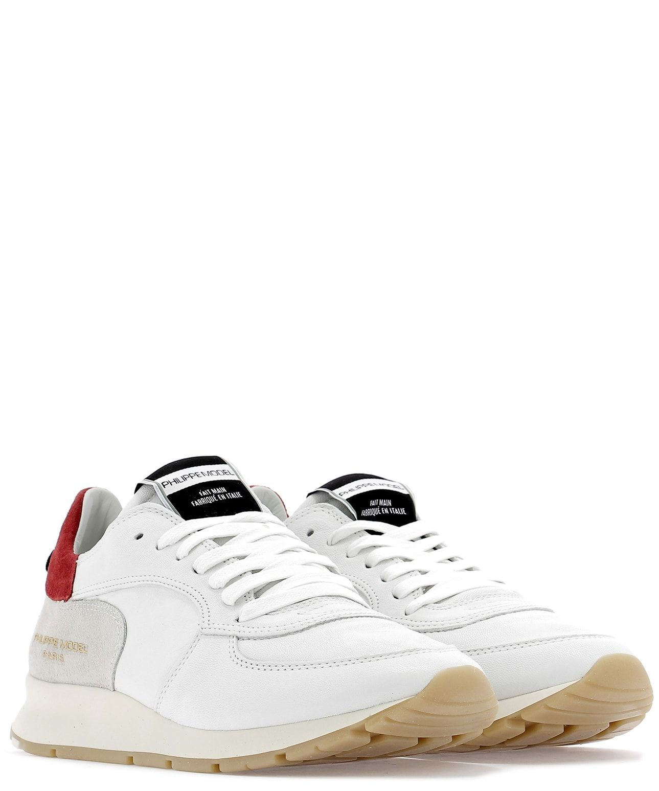 PHILIPPE MODEL WOMEN'S NTLDWW11 WHITE LEATHER SNEAKERS