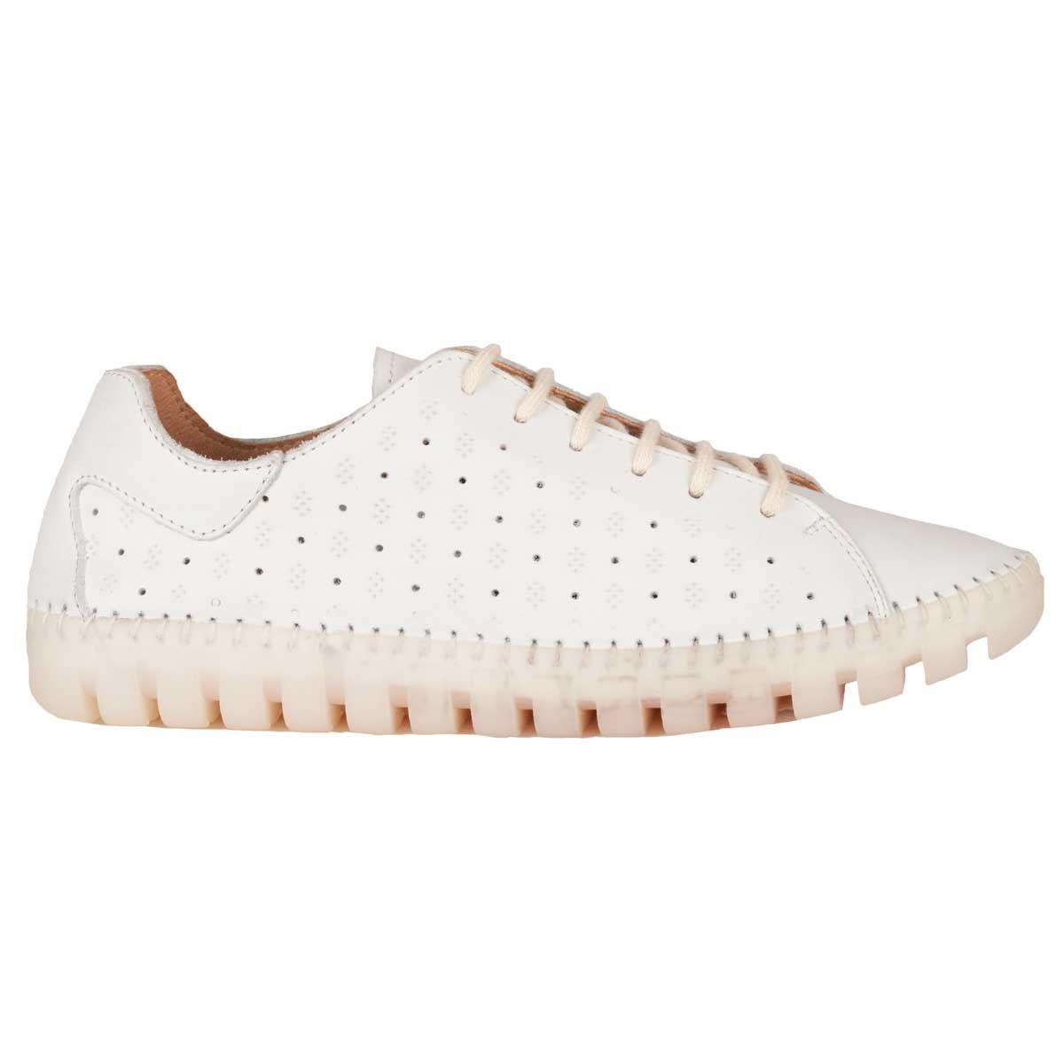 Purapiel Cleated Sole Sneaker in White