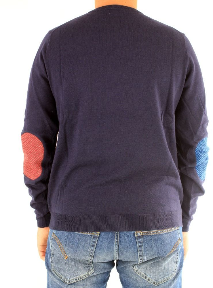 SUN 68 MEN'S K2913307 BLUE COTTON SWEATER