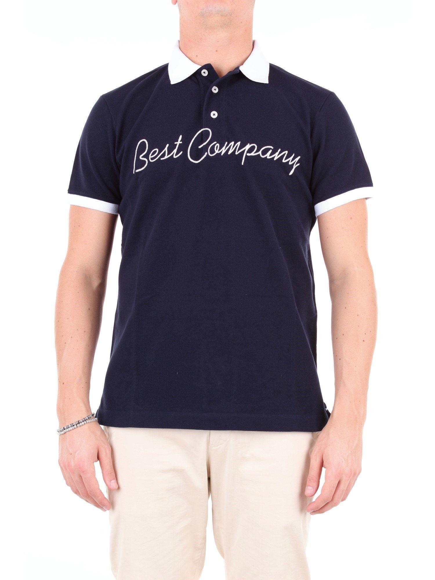 BEST COMPANY MEN'S 692044BLUE BLUE COTTON POLO SHIRT
