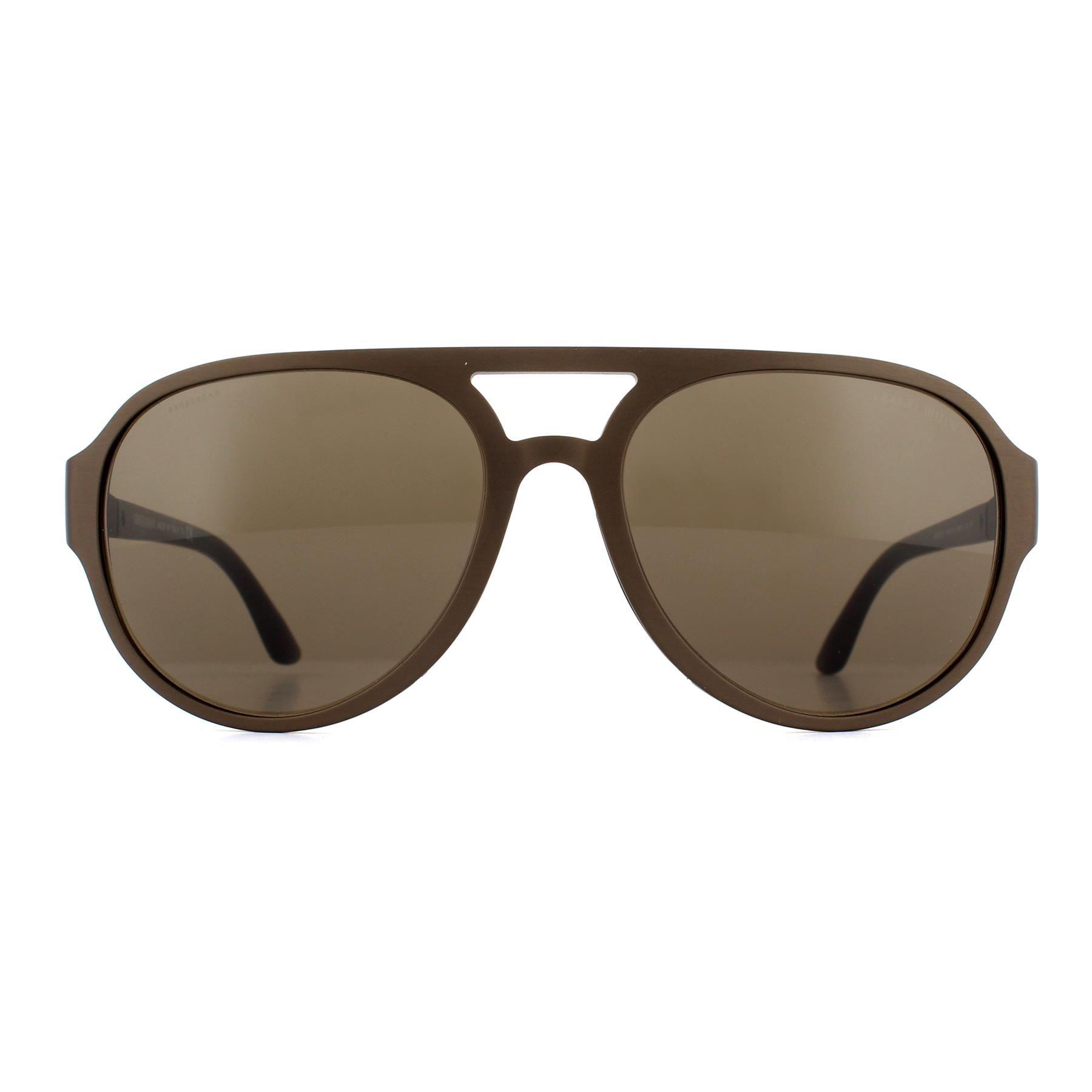 Giorgio Armani Sunglasses AR6037 315173 Brushed Brown Brown