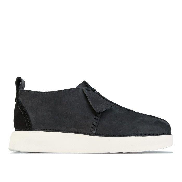 Men's Clarks Originals Trek Formed Shoes in Black