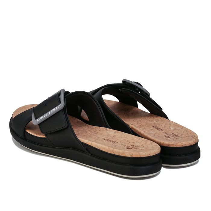 Women's Clarks Cloudsteppers Step June Shell Sandals in Black