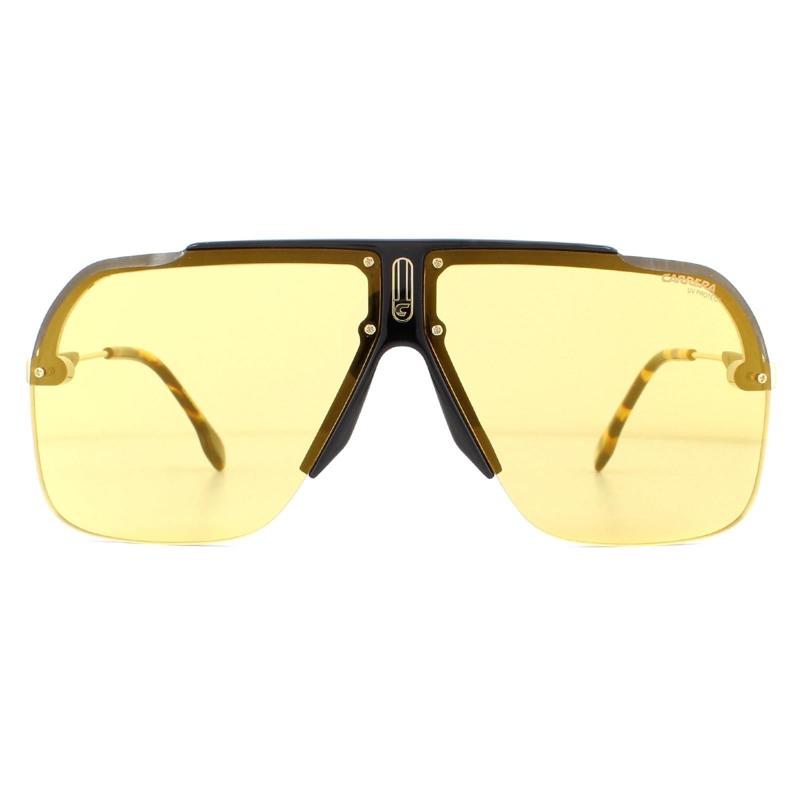 Carrera Sunglasses 1031/S 71C/ET Black Yellow Gold Mirror