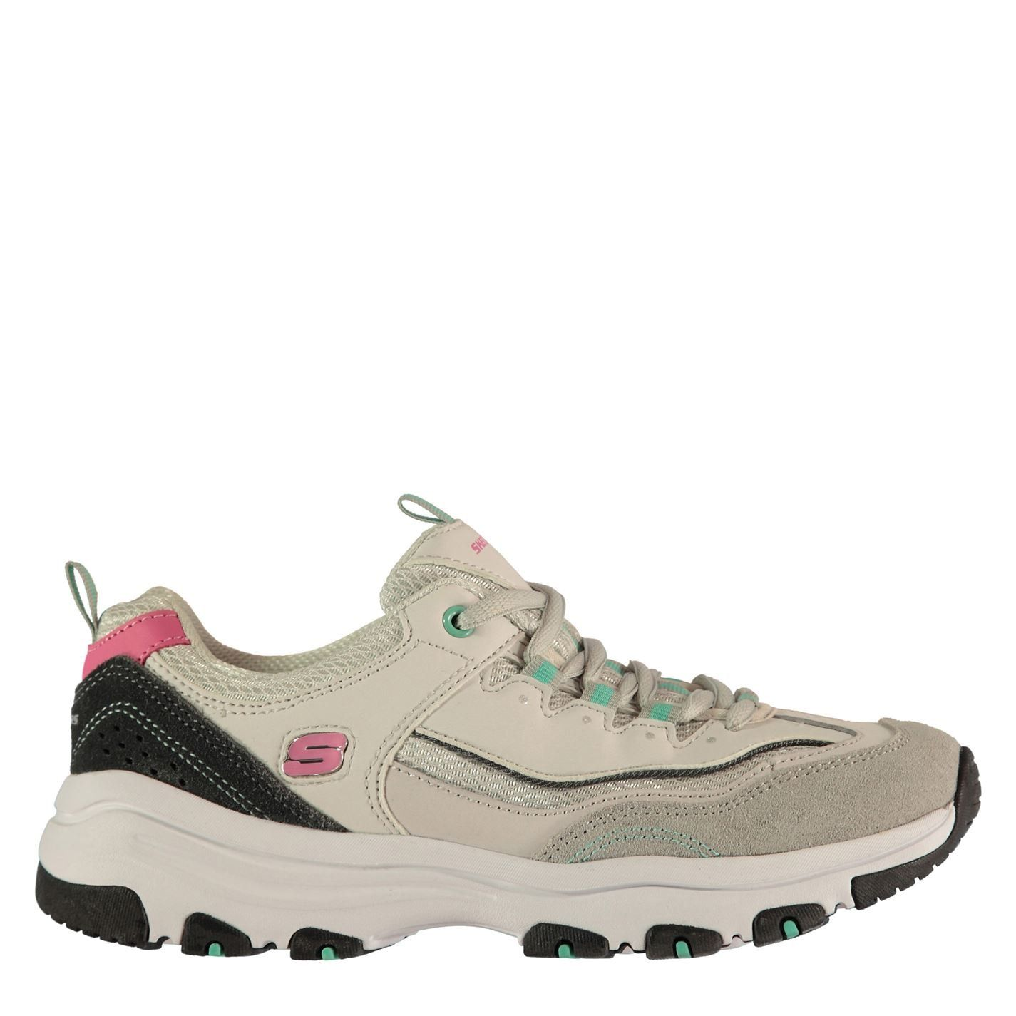 Skechers Womens Icon Dlite Trainers Runners Shoes Lace Up Padded Ankle Collar