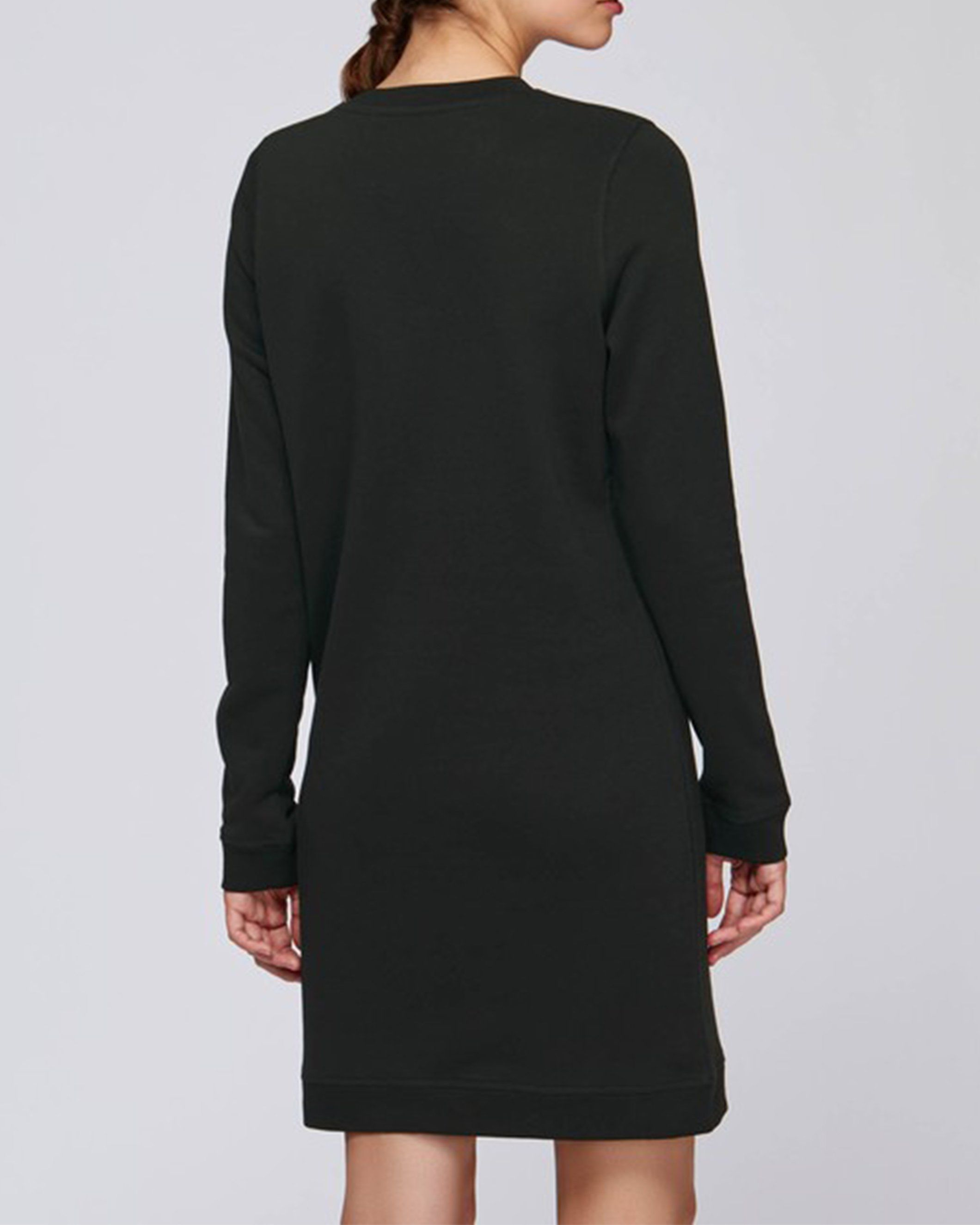 Merkaba Women's Crew Neck Dress in Black