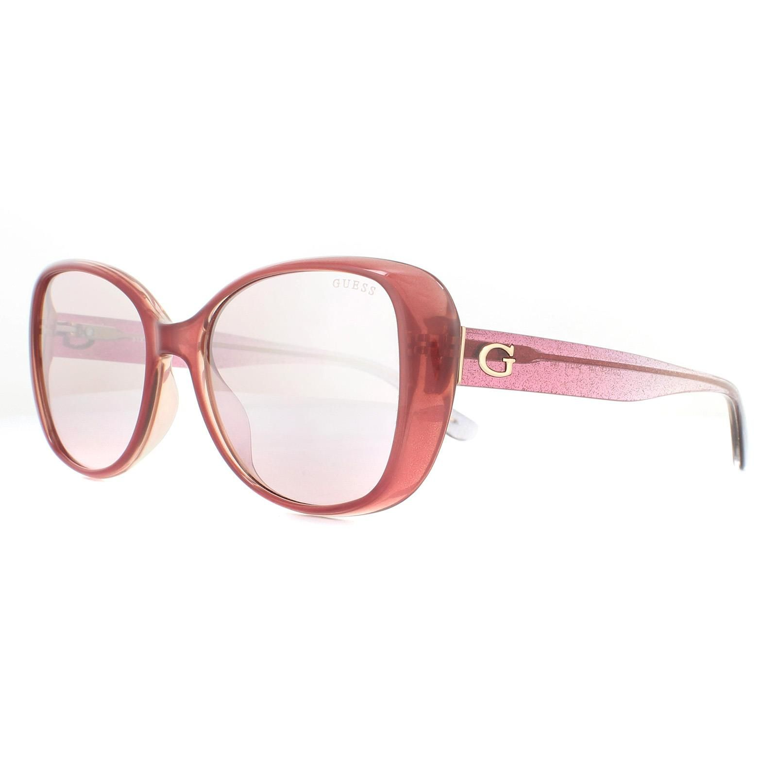 Guess Sunglasses GU7554 74F Pink Pink Brown Gradient