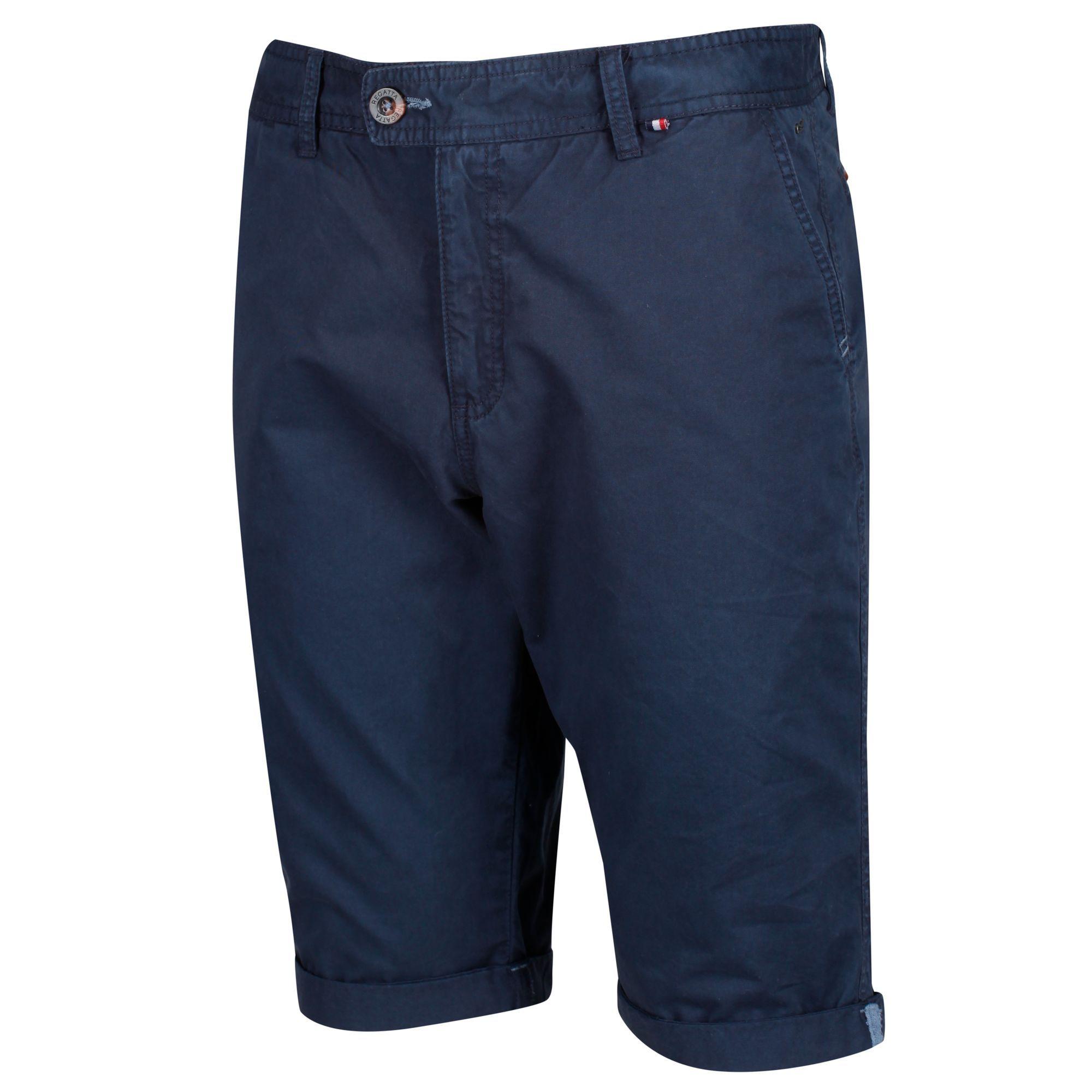 Regatta Mens Santino Coolweave Casual Shorts (Navy)