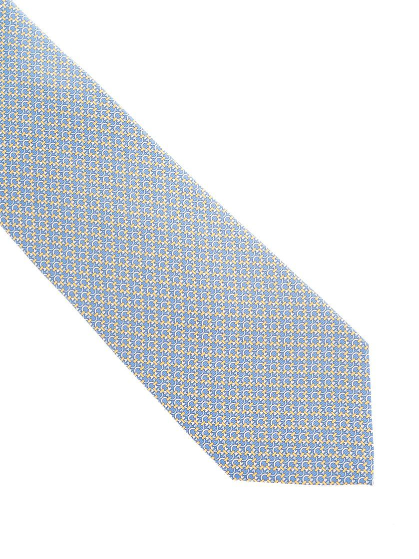 SALVATORE FERRAGAMO MEN'S 3587715 LIGHT BLUE SILK TIE