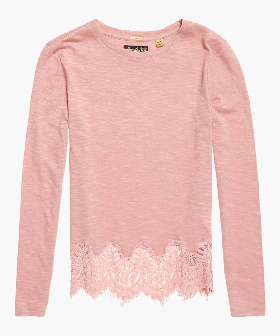 Alma rose cotton blend lace top