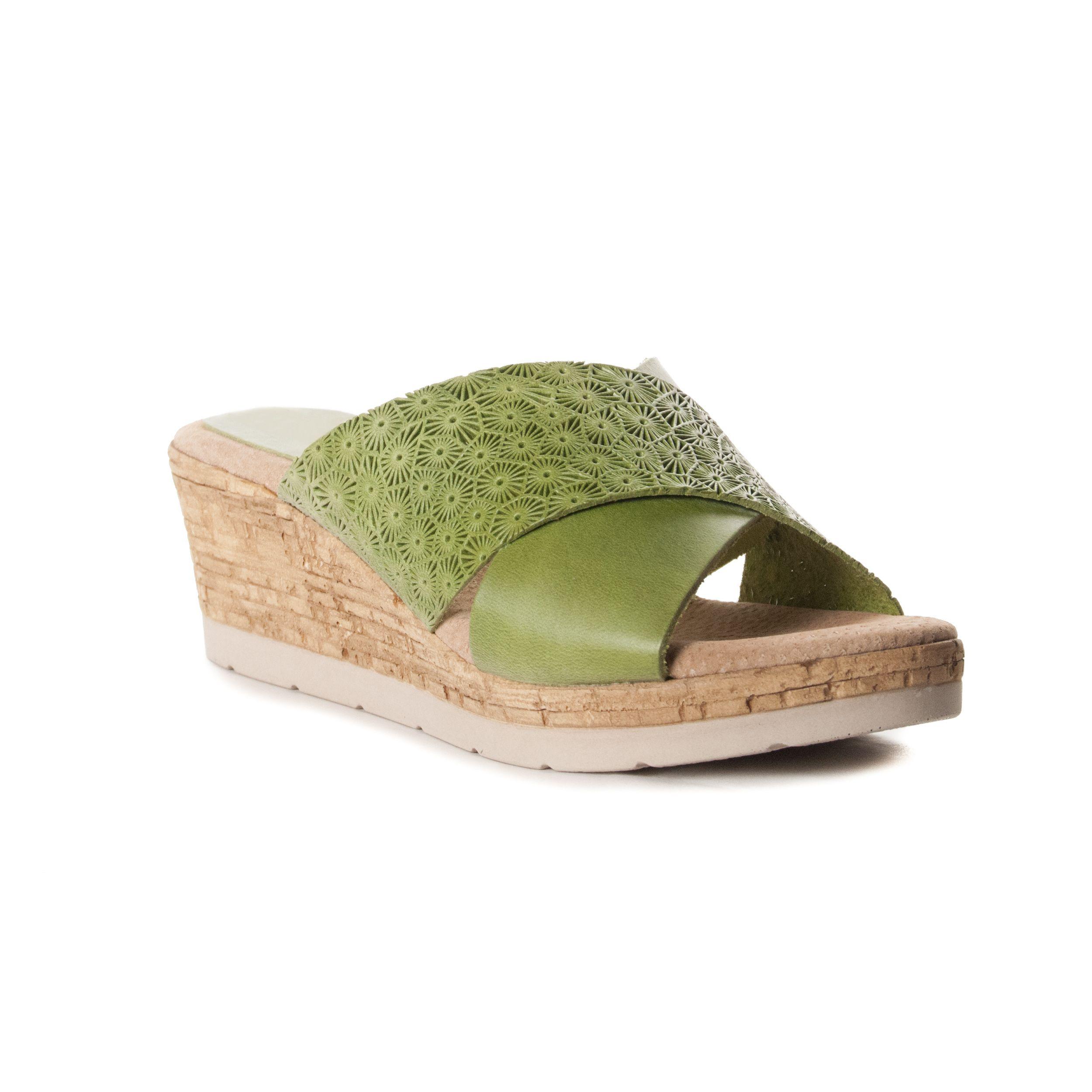 Montevita Chunky Heel Sandal in Green