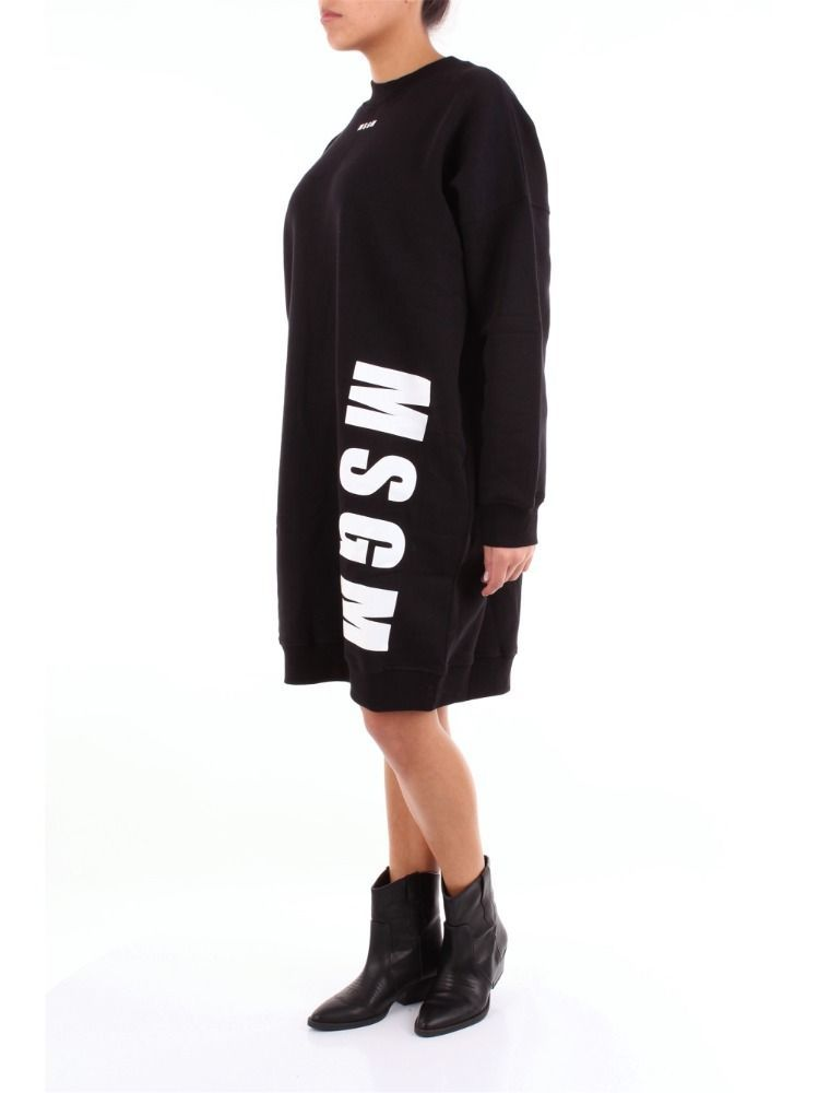 MSGM WOMEN'S 2541MDA6918479999 BLACK COTTON DRESS