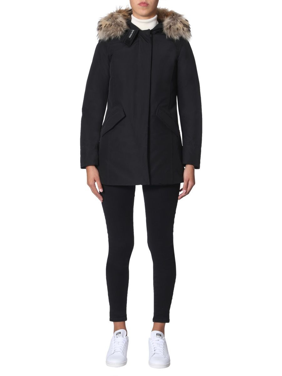 WOOLRICH WOMEN'S WWCPS2762UT0001BLK BLACK COTTON OUTERWEAR JACKET