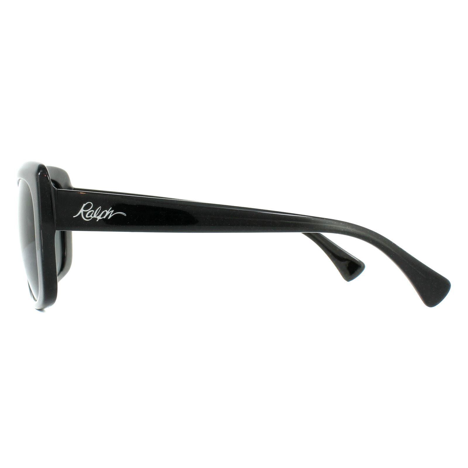 Ralph by Ralph Lauren Sunglasses RA5241 568187 Shiny Black Glitter Grey