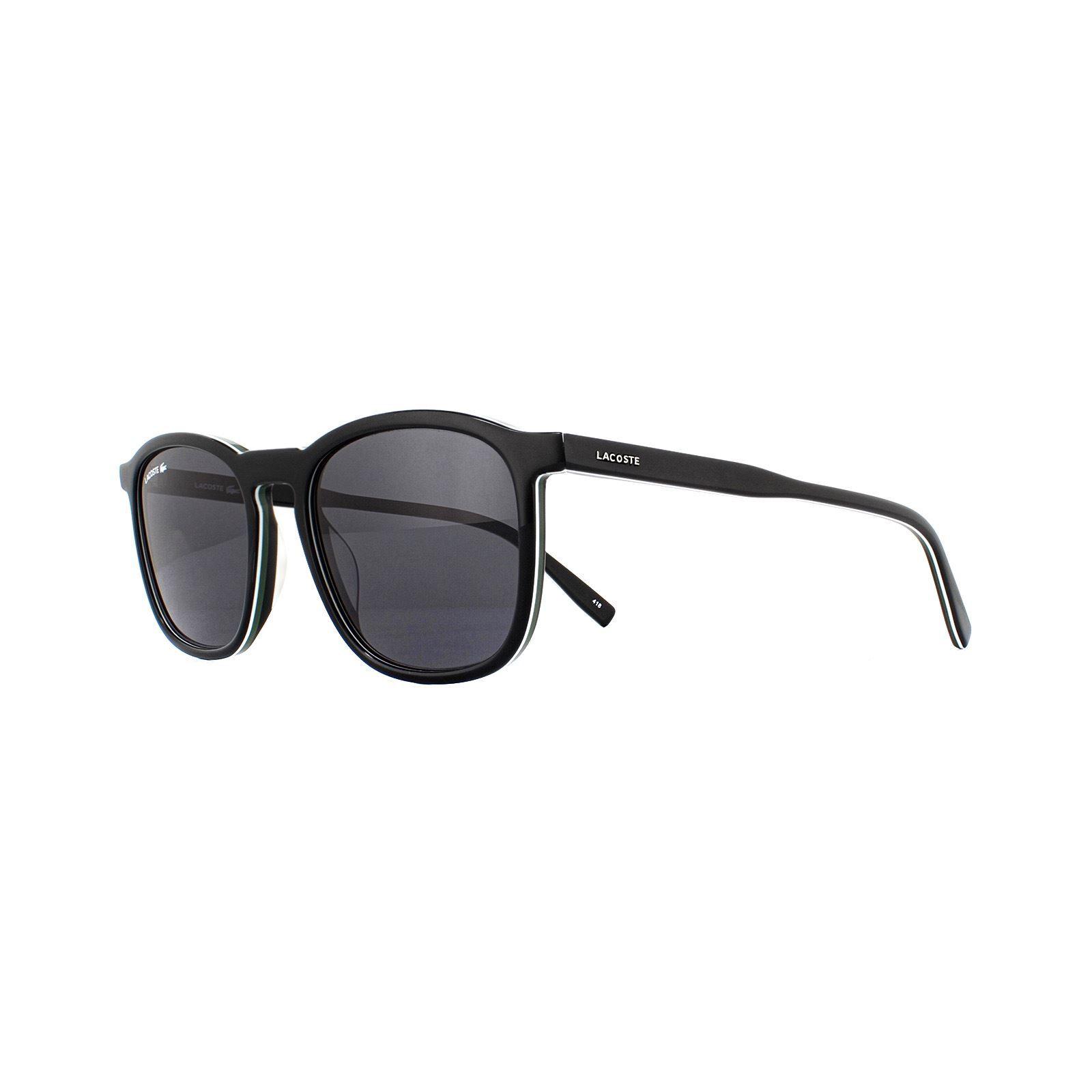 Lacoste Sunglasses L901S 001 Black White Green Grey