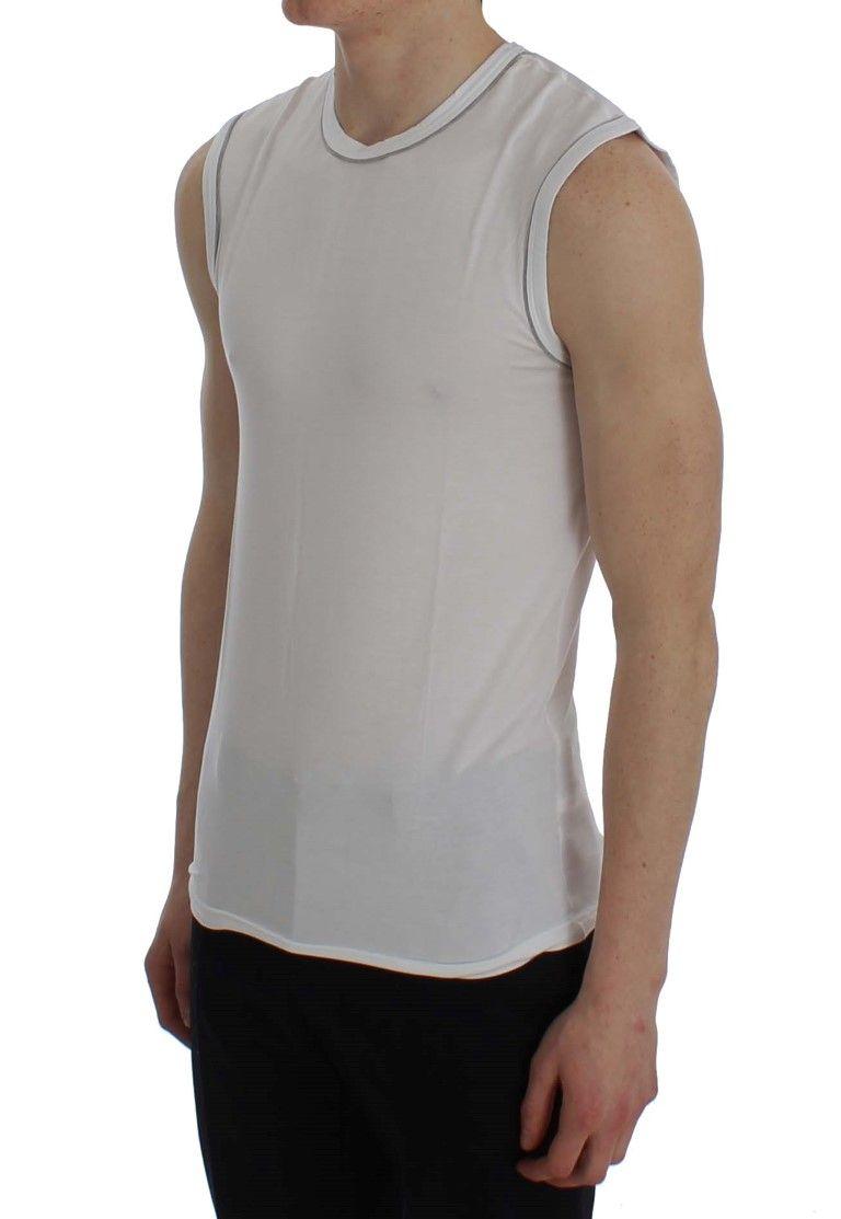 Ermanno Scervino White Modal Stretch Underwear T-shirt