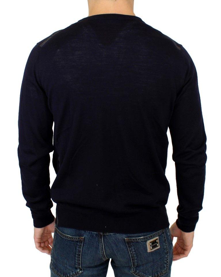 Karl Lagerfeld Blue full zip cardigan sweater