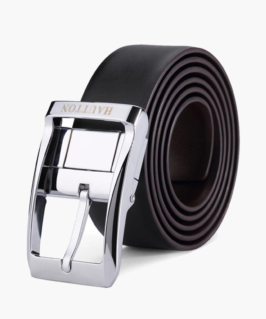 Black leather belt