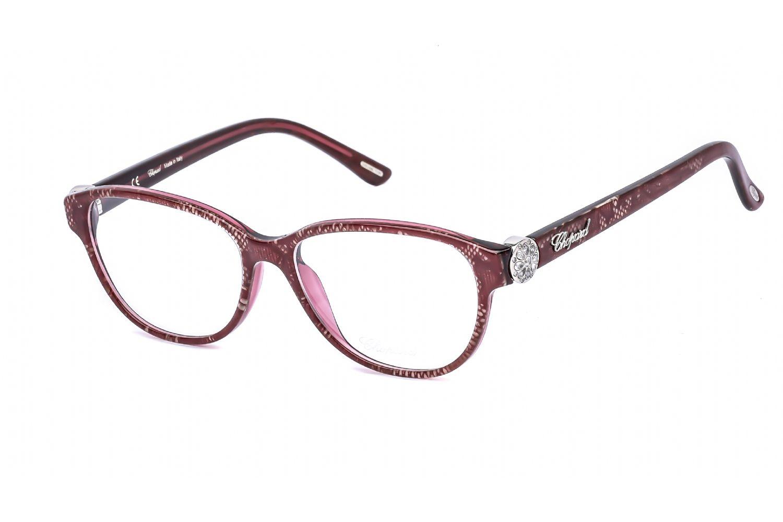 Chopard Oval plastic Women Eyeglasses Plum Lace / Clear Lens