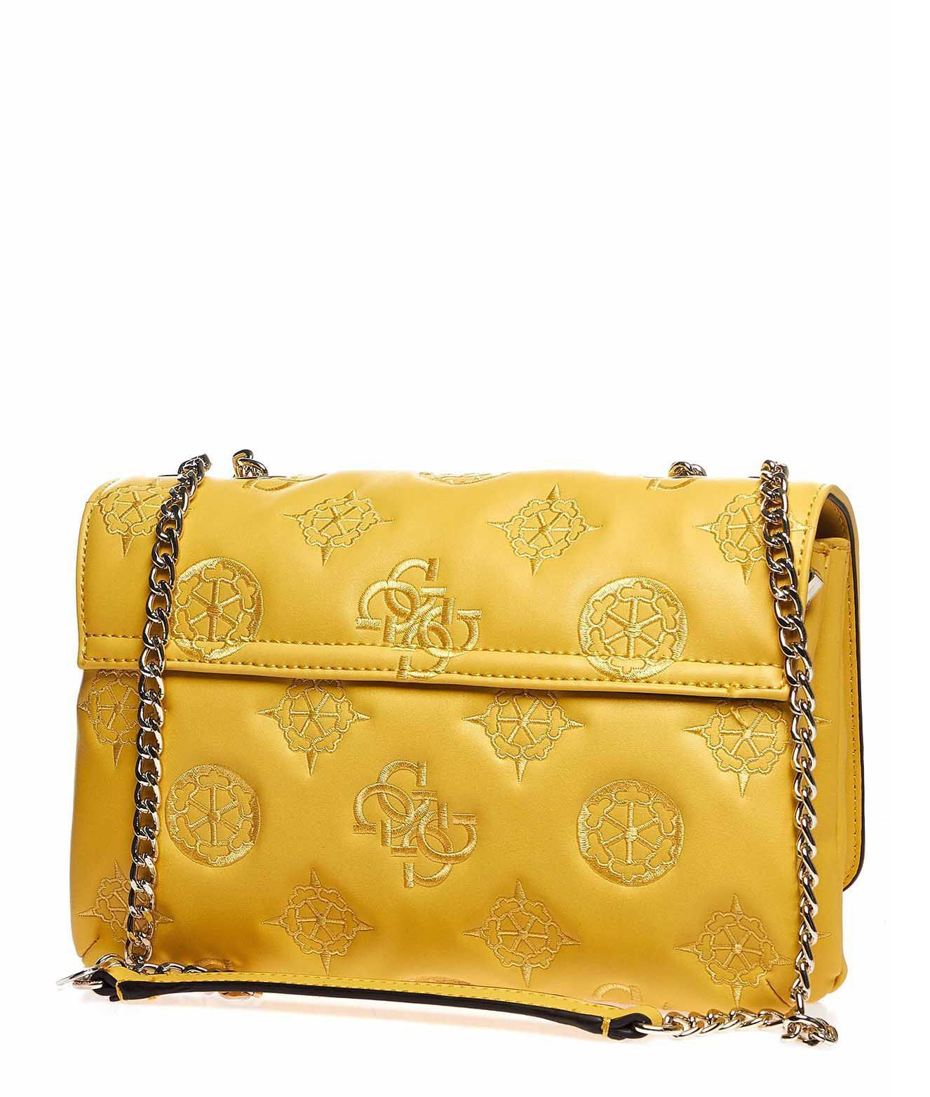 GUESS WOMEN'S HWSG7589210YELLOW YELLOW POLYURETHANE SHOULDER BAG