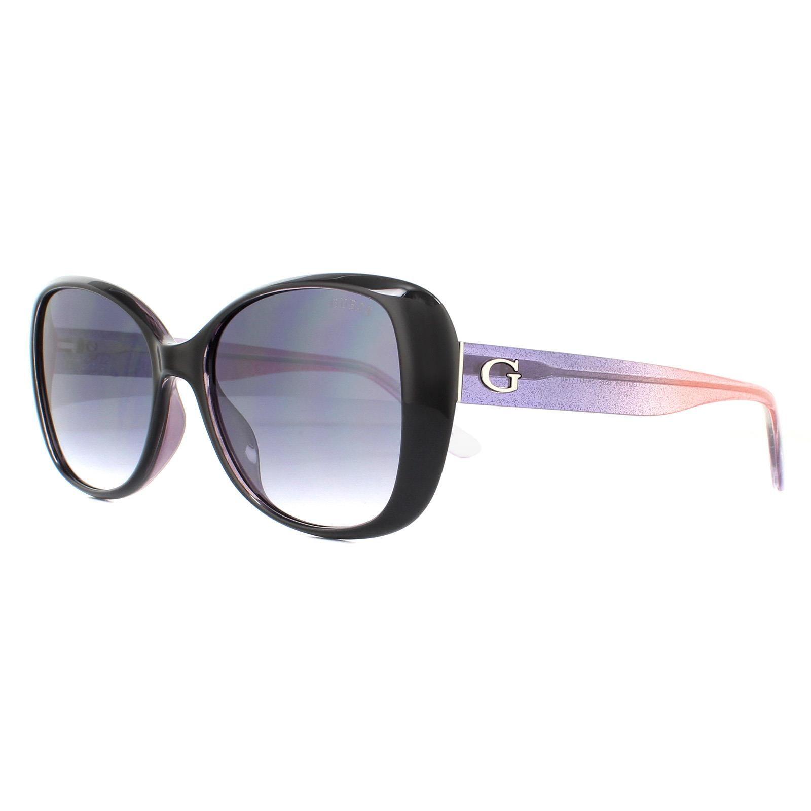 Guess Sunglasses GU7554 05B Black Pink Gradient Grey Gradient