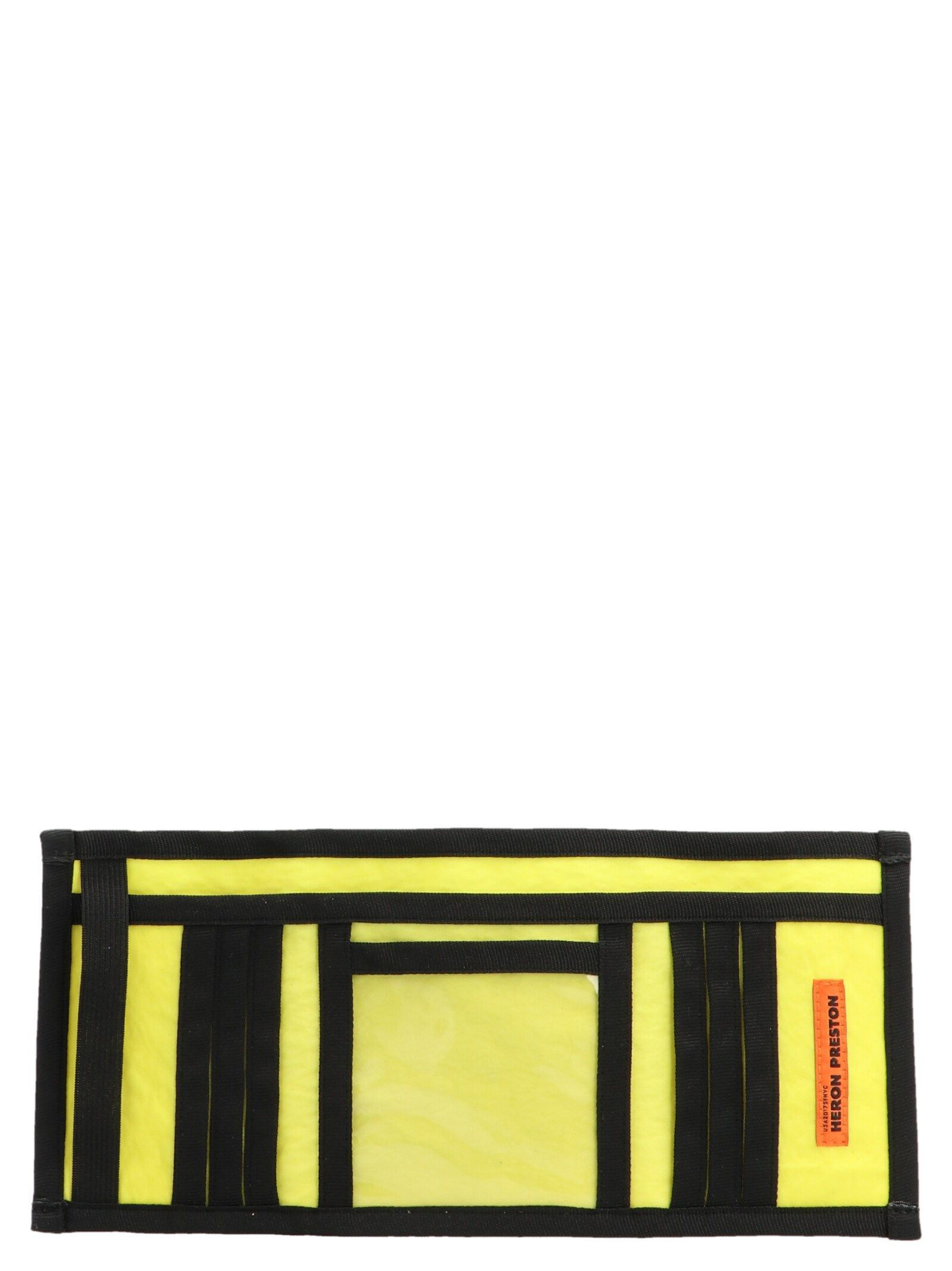 HERON PRESTON MEN'S HMNC005F198160041588 YELLOW SYNTHETIC FIBERS WALLET